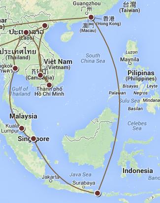 Ásia: Onde passaremos metade da nossa viagem!